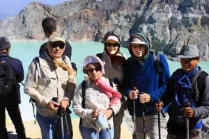 Java Ijen lake volcano Bali Authentique client Helloin