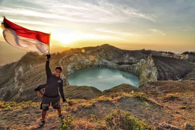 volcan Kelimutu Flores Indonésie
