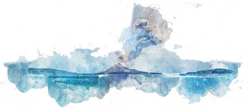Krakatoa volcano Bali design