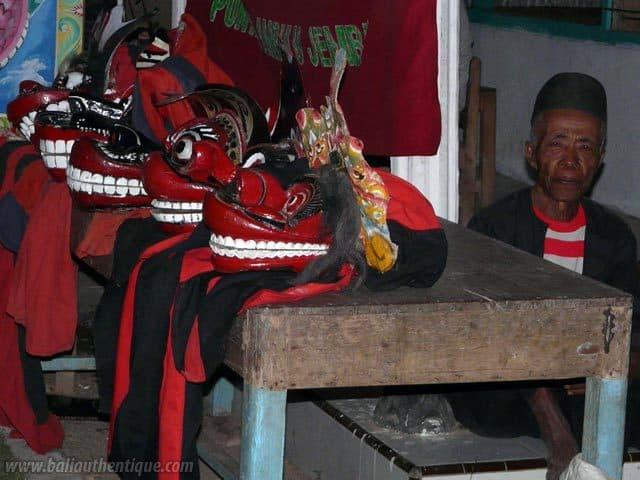 kuda lumping danse javanaise masque faits mains
