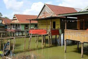 Lacustre Lac tempe Sulawesi ile indonésie