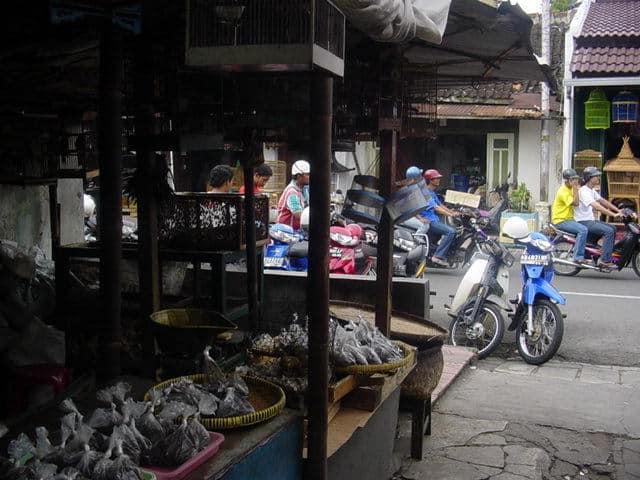 malioboro yogyakarta indonesie marché