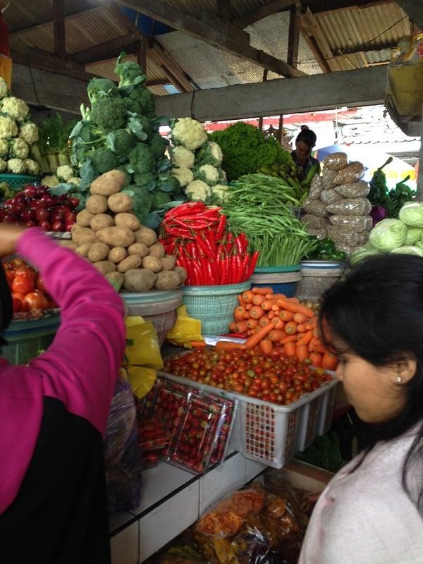 marché indonésien fruits bali
