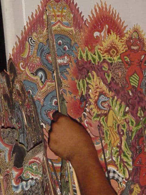 marionnettes authentiques balinaises indonesie