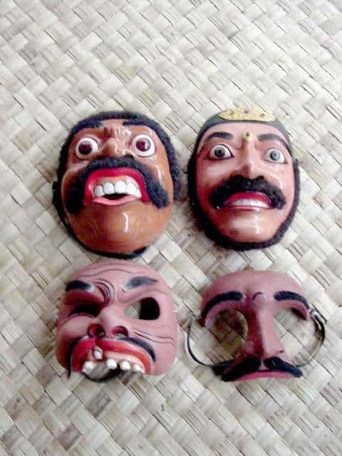 masques balinais bali decouverte theatre local