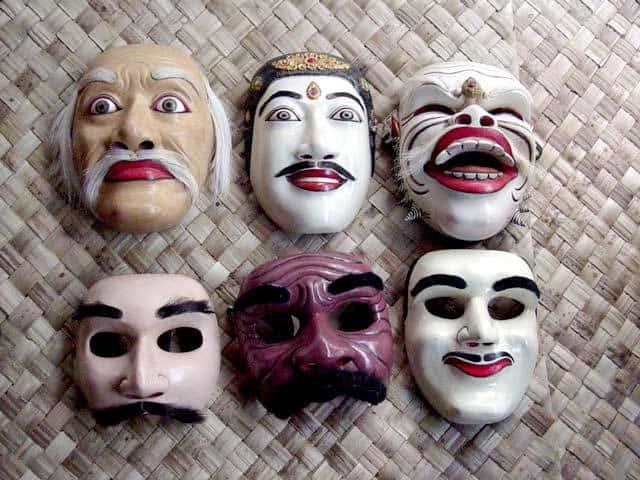 masques balinais ile indonesie bali theatre
