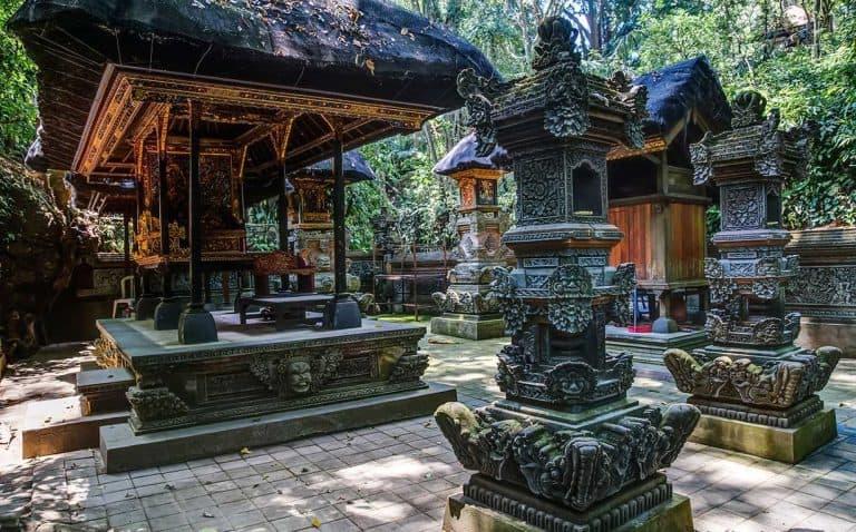 Monkey Forest Ubud Bali Temple Intérieur Filtre