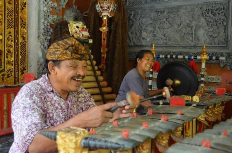 musique traditionnelle balinaise habitant de bali