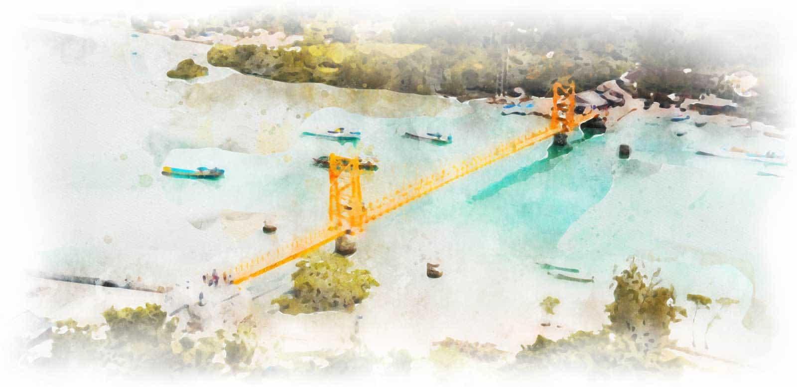 voyage Nusa Lembongan pont