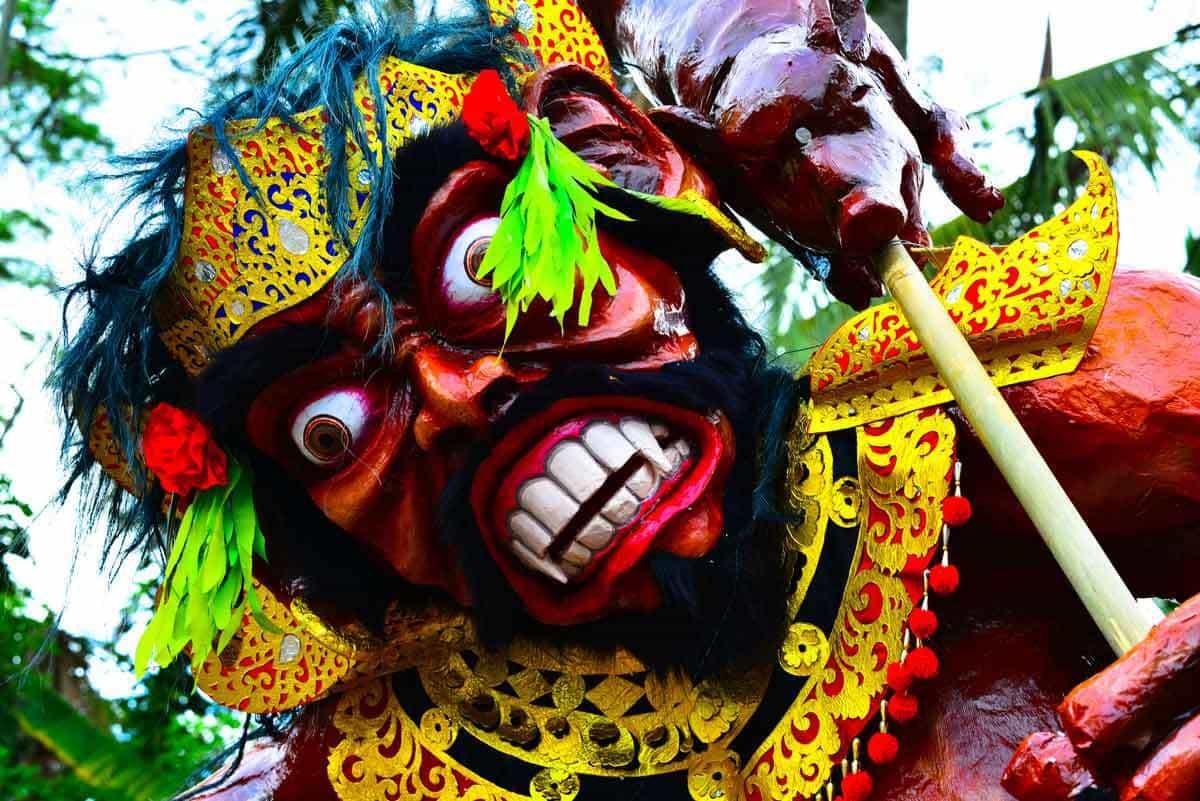 nyepi cérémonie traditionnelle bali panorama