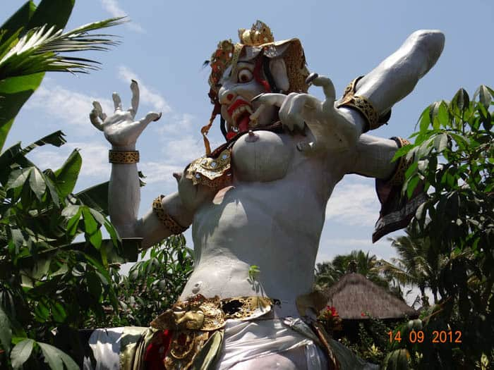 Ogoh ogoh Bali Nyepi monster carnival char