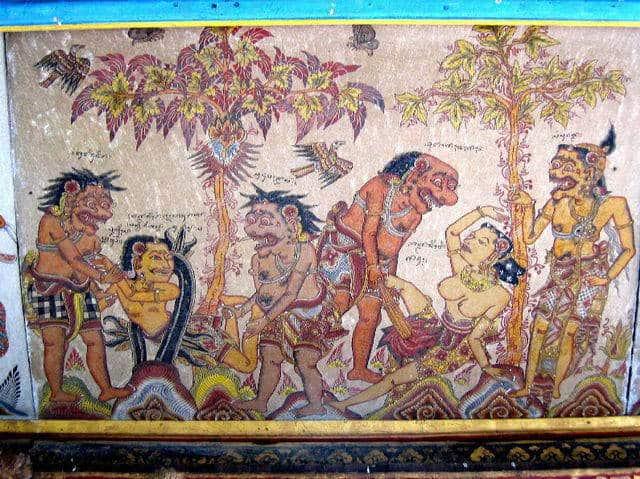 palais klungkung fresque ancienne