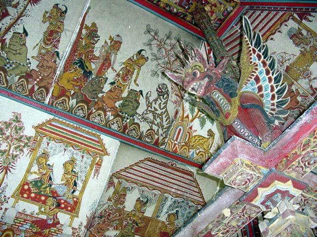 palais klungkung plafonds peints