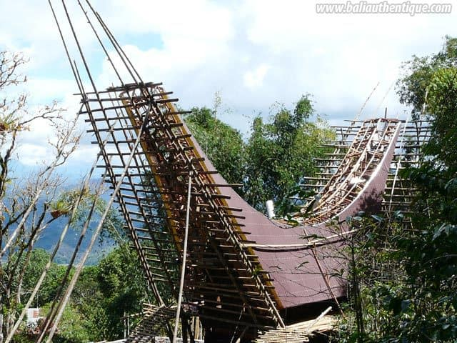 pays toraja sulawesi maison traditionnelle
