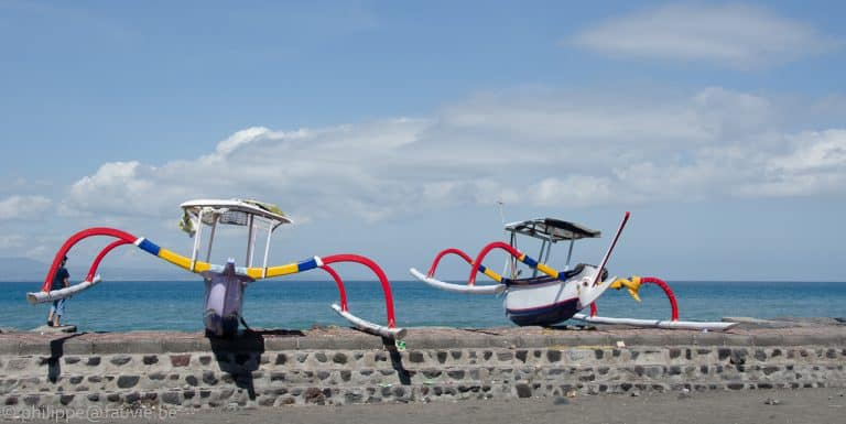 paysage indonésie bateau