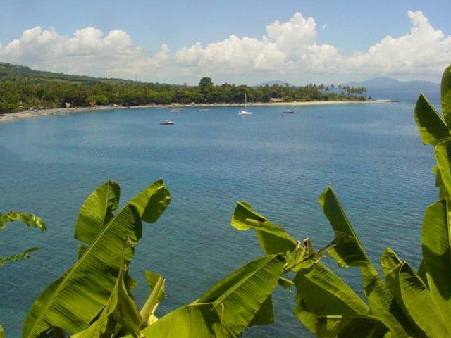 paysage plage senggigi lombok