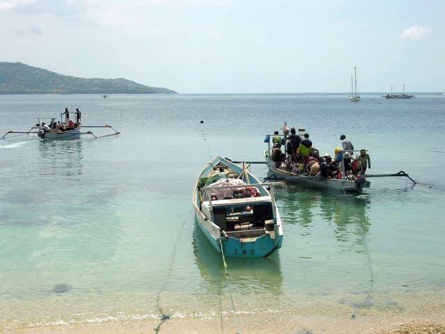 peche gili air ile lombok indonesie bateaux