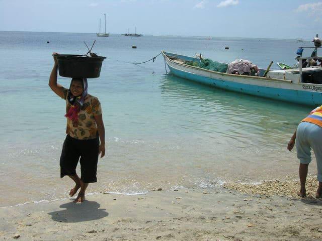 peche gili air ile lombok indonesie habitante