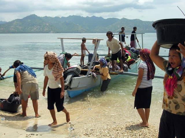 peche gili air ile lombok indonesie pecheurs