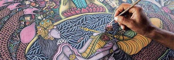 peinture balinaise indonésie
