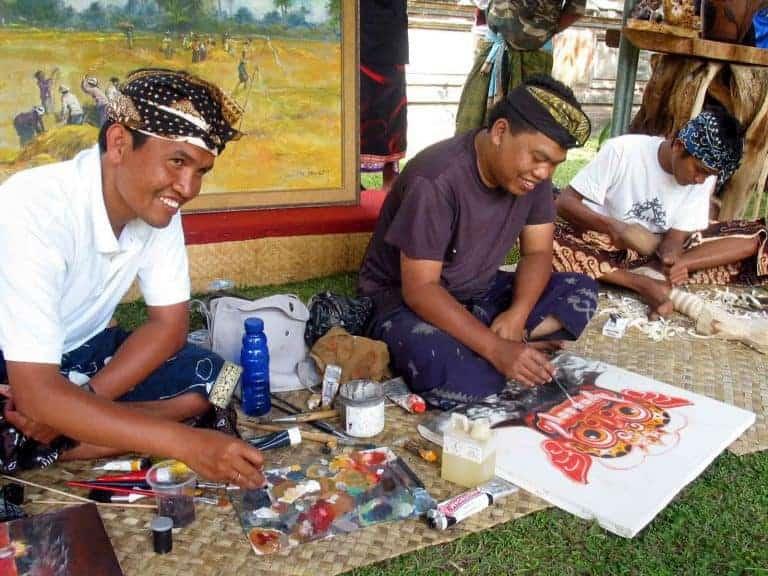 peinture balinaise artisanat local
