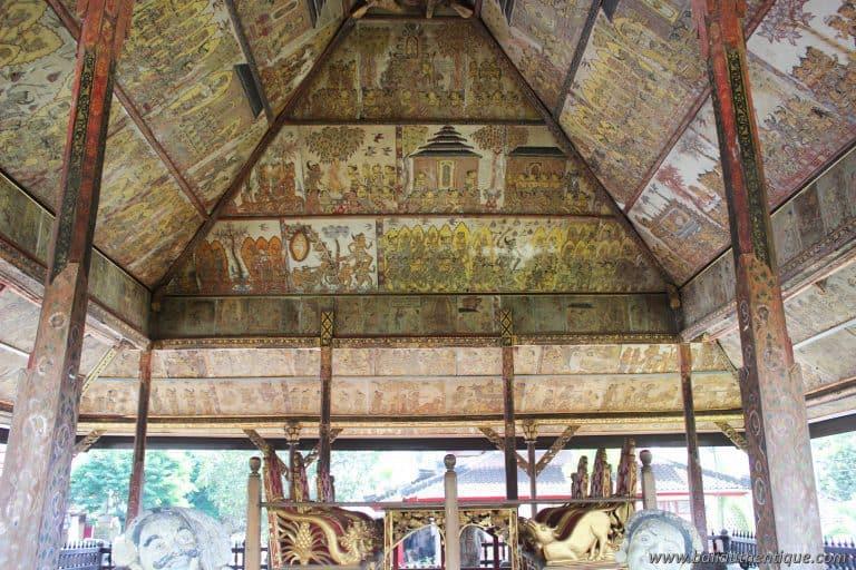 peintures palais klungkung bali visite