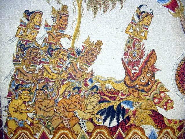 peintures palais klungkung visite