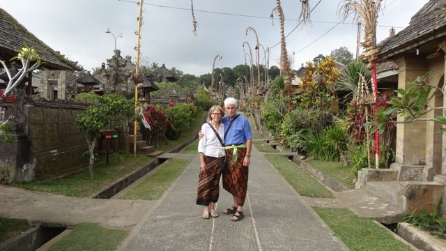 Penglipuran village traditional Bali Authentique client Chevailer