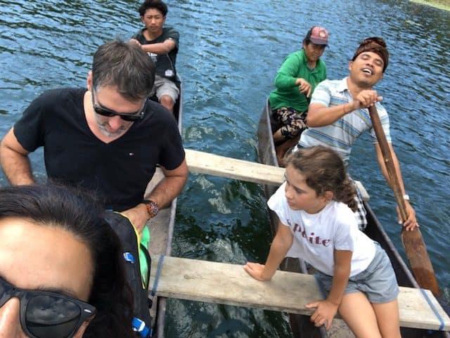 pirogue lac tamblingan Bali