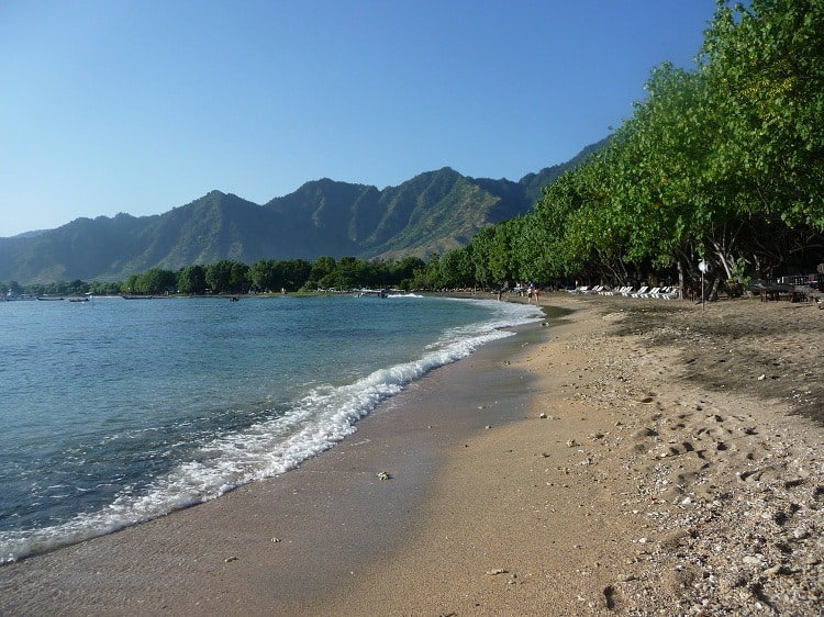 plage déserte ile de java