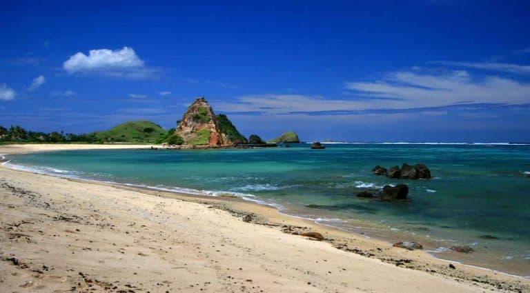 plage senggigi lombok indonesie panorama
