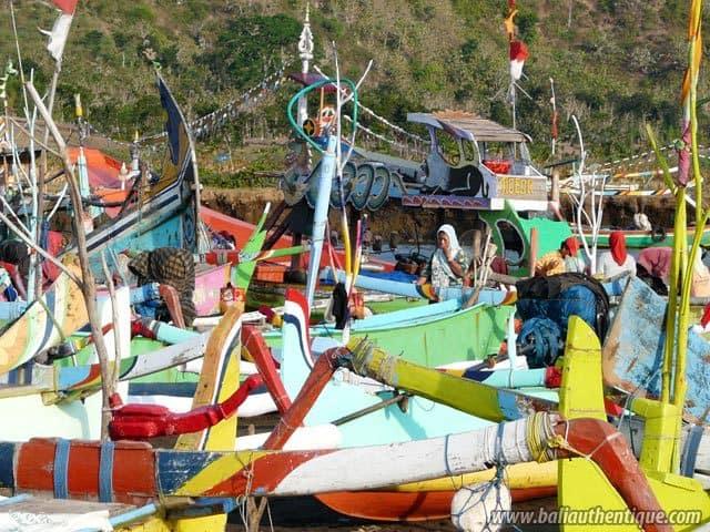 port peche jember java bateaux