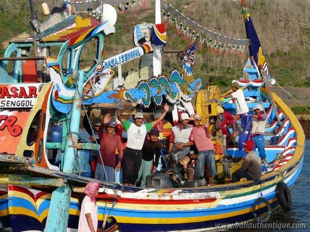 port peche jember java pecheurs bateau