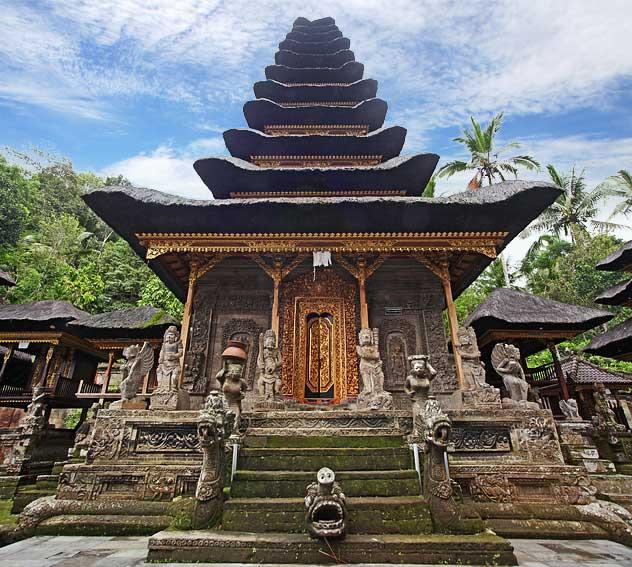 Pura Kehen Temple Bali Bangli Meru Fish Eye
