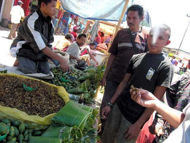 Ruteng Flores Indonésie marché