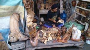 activités bali sculpture sur bois