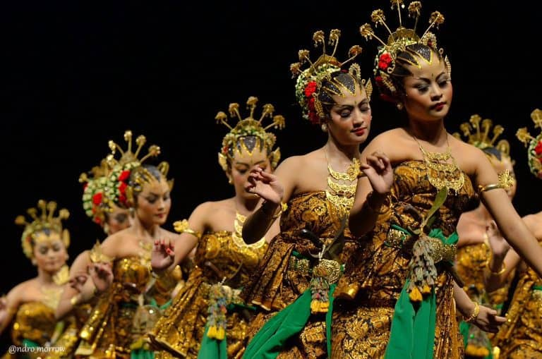 serimpi danse java indonesie panorama