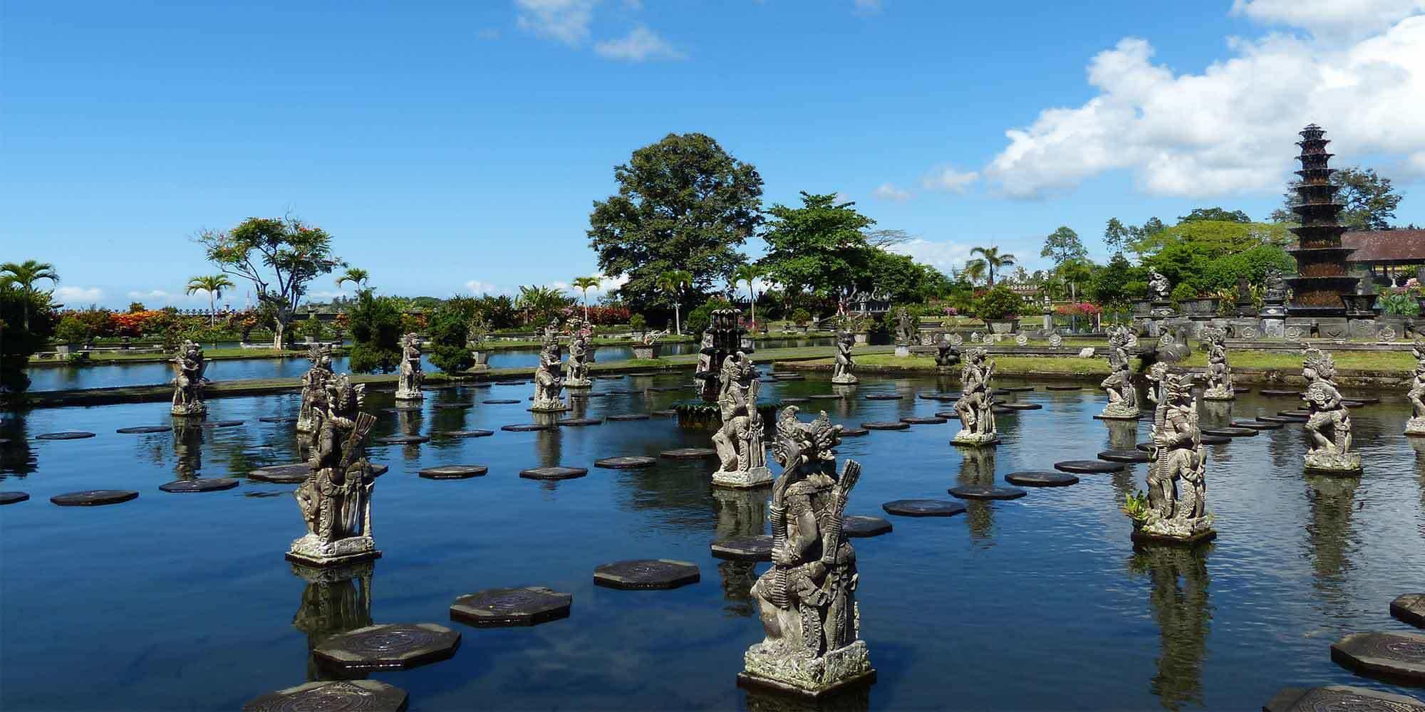 sidemen bali palais de l'eau indonésie