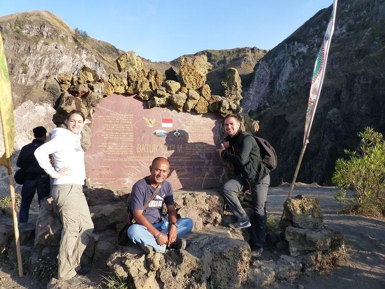 mont batur trek sommet volcan