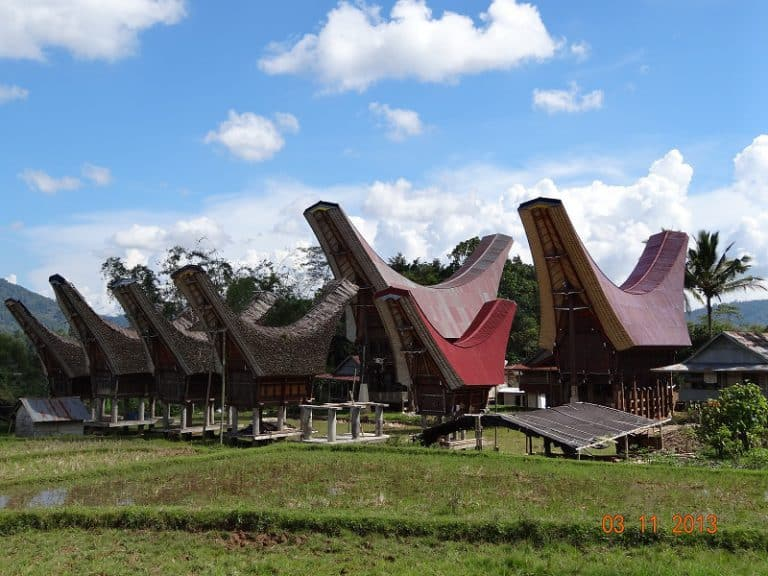 Sulawesi Maison Toraja Indonésie