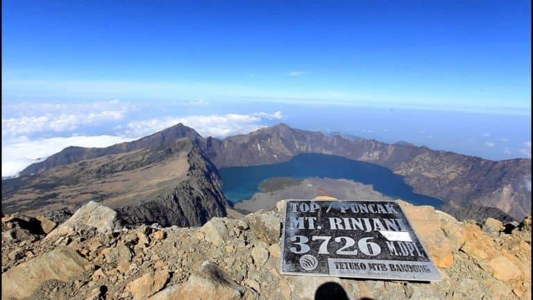 sommet Rinjani Lombok