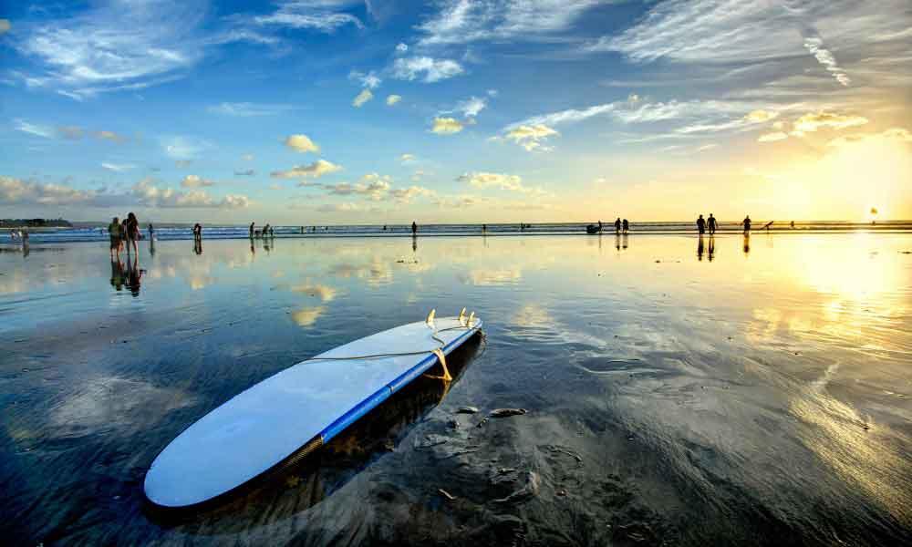 surf indonesie sunset plage sport