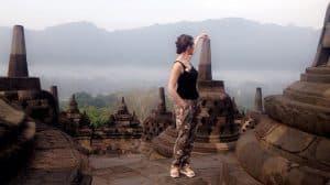 Borobudur temple javanais indonésie