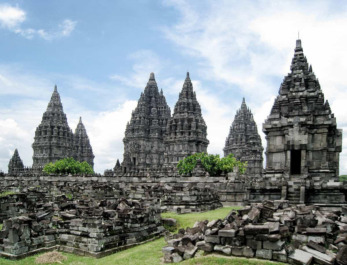 temple prambanan ile java panorama