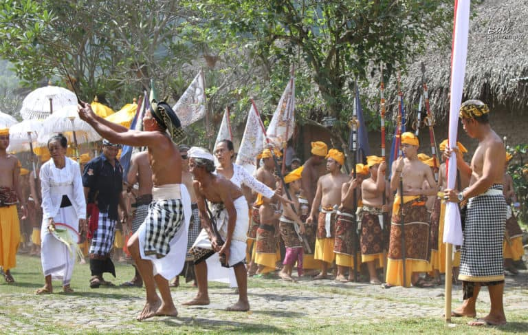 Tenganan Bali aga village ceremonie