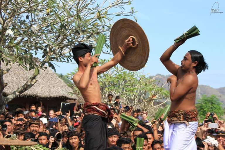 Tenganan Bali war festival mekare kare