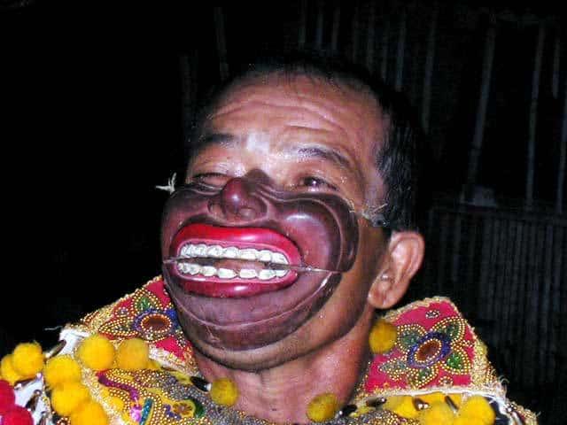 topeng comedie balinaise acteur indonesie