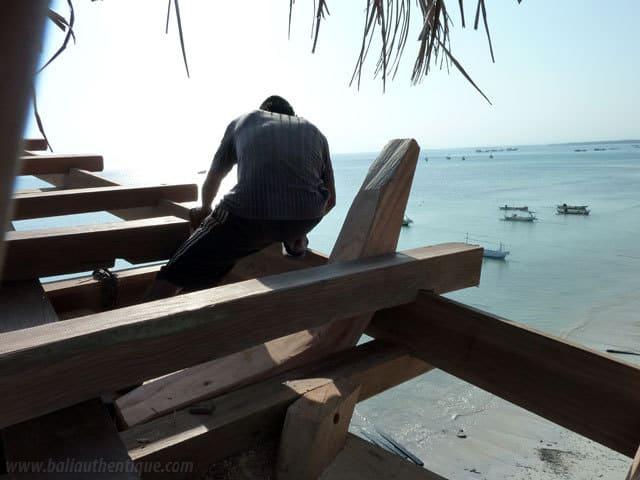 travailleur indonesien sulawesi bateau