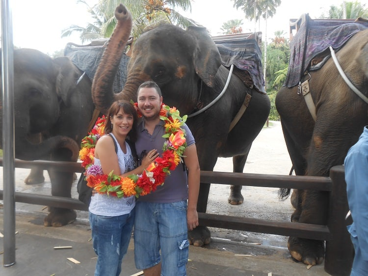 trek elephants bali en amoureux