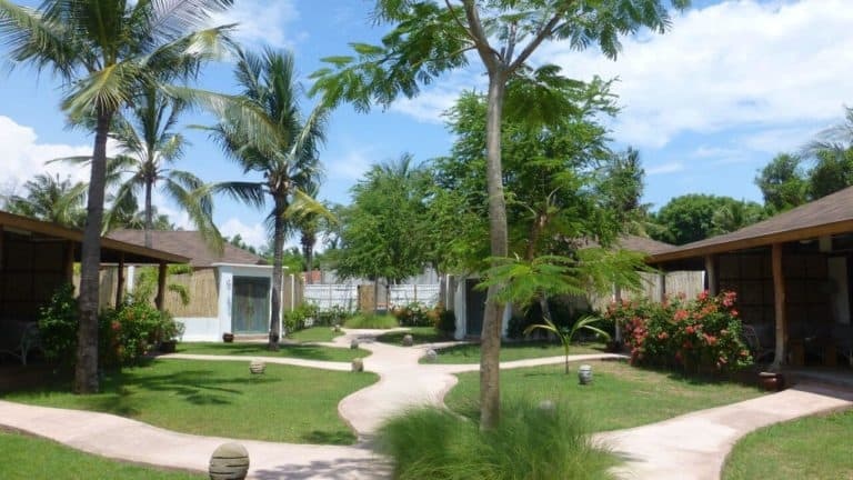 villa lombok gili piscine privative jardin